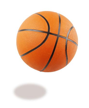 One basketball on plain background