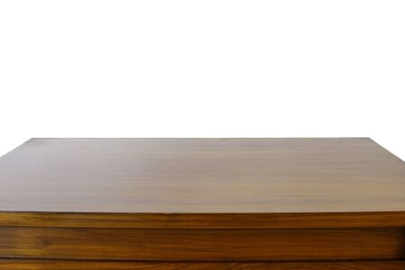 tabletop: Tabletop in front of plain background Stock Photo