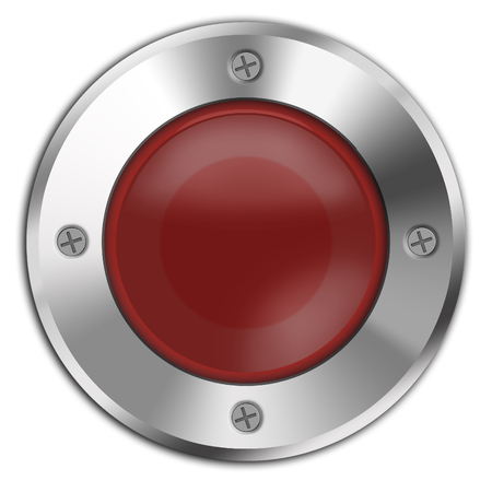 red button: Red button isolated on white background