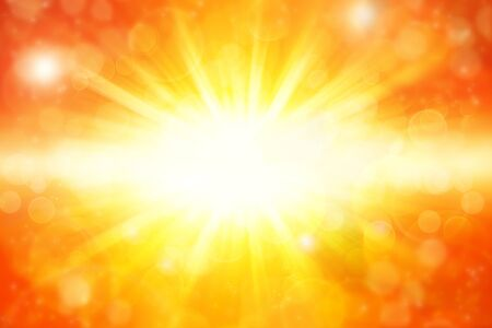 radial background: Bright yellow and orange explosion Stock Photo
