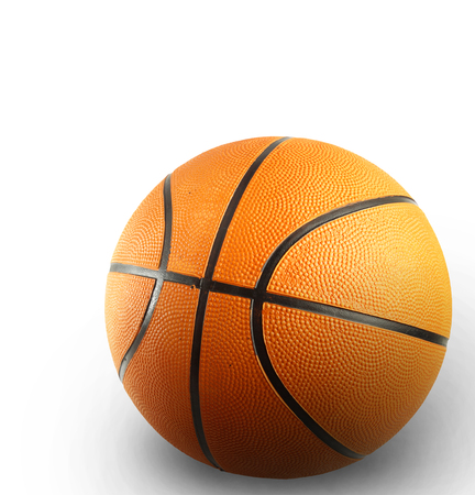 sport object: One basketball on plain background