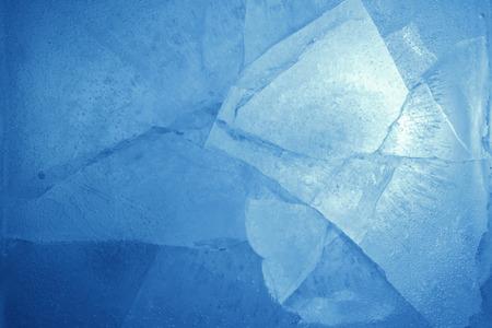 Gros plan du fond bleu de la glace