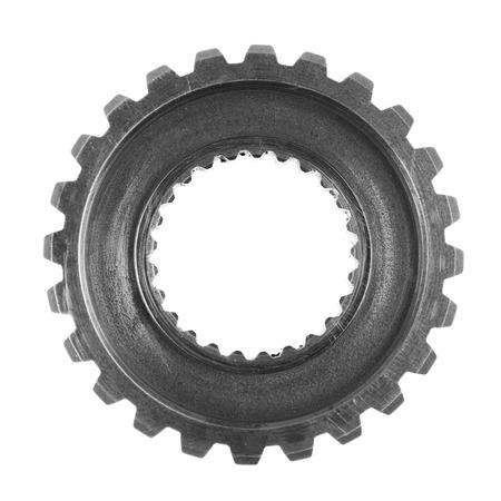 single object: Metal gear on plain background