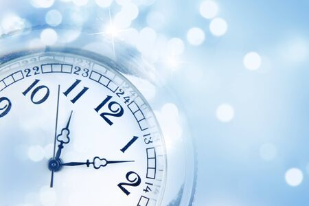 time: Clock face and abstract background Stock Photo