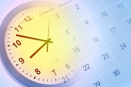date: Uhr-Gesicht und Kalender composite