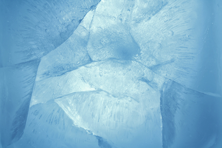 Closeup of blue ice background