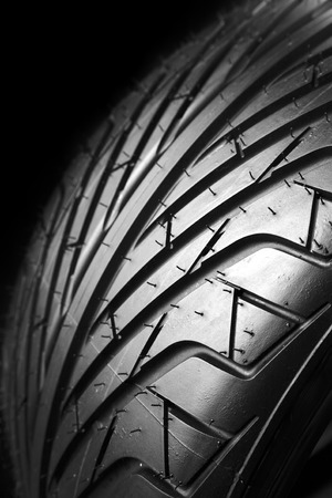 tread: Closeup of tire tread