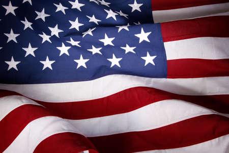american: Closeup of ruffled American flag