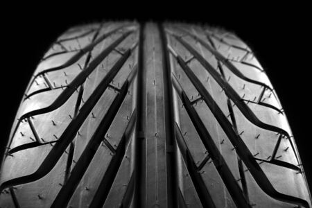 tread: Closeup of tire tread