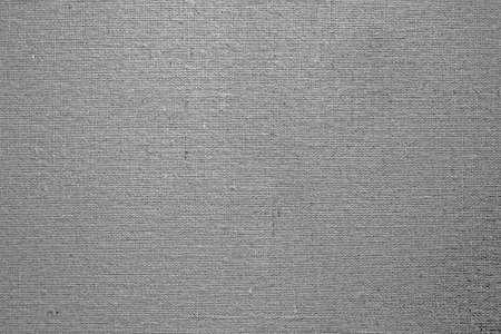textures: Nahaufnahme der grauen Leinwand Textur