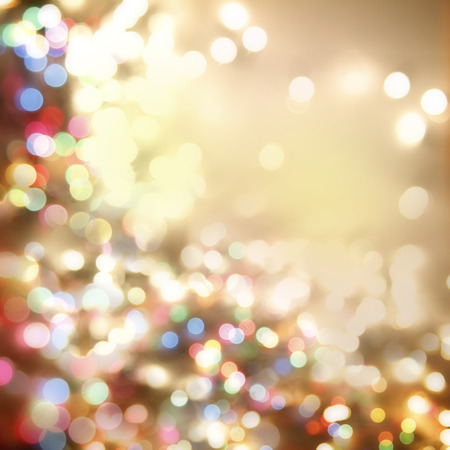 bokeh lights: Colorful blurred circles abstract background Stock Photo