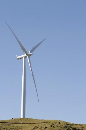 turbine: Giant wind turbine on hill