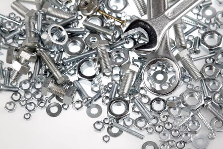 multiple objects: Wrenches on nuts and bolts