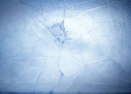 cold background: Closeup of cracked blue ice