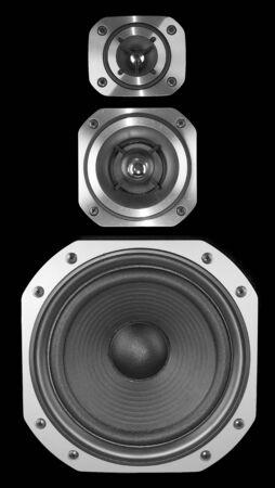 equipo de sonido: De cerca de tres altavoces estéreo