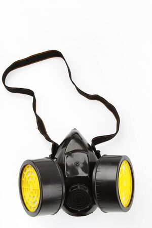 respiratory apparatus: Respirator isolated on plain background