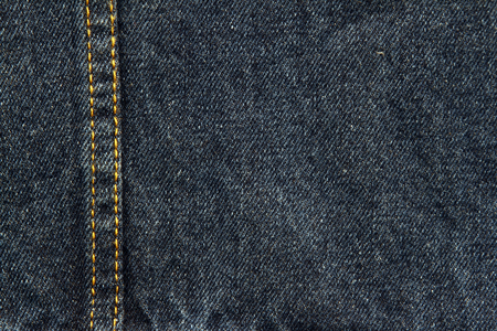 denim fabric: Closeup of blue denim fabric