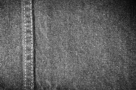 jean: Closeup of black denim fabric