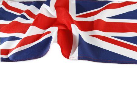 union flag: Union Jack flag on plain background Stock Photo