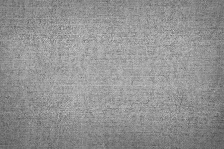 Nahaufnahme der grauen Leinwand Textur Standard-Bild