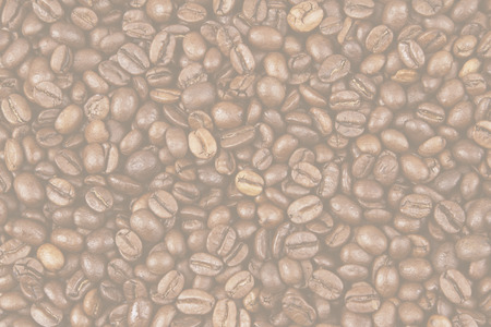 faded: Closeup of faded coffee beans Stock Photo