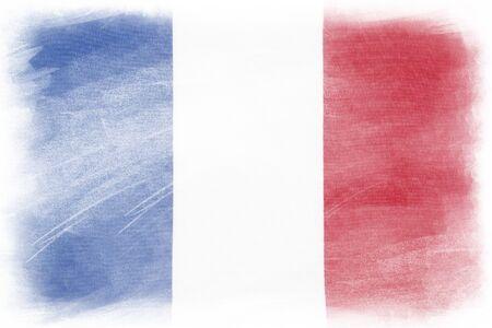 French flag on plain background Archivio Fotografico