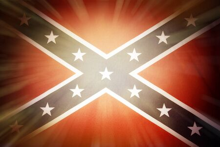rebel flag: Brightly lit Confederate flag Stock Photo