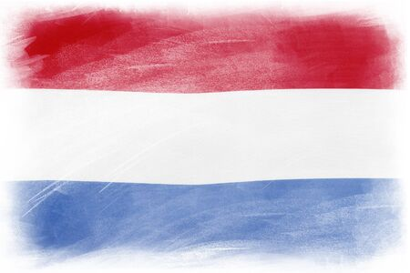 netherlands flag: Netherlands flag on plain background