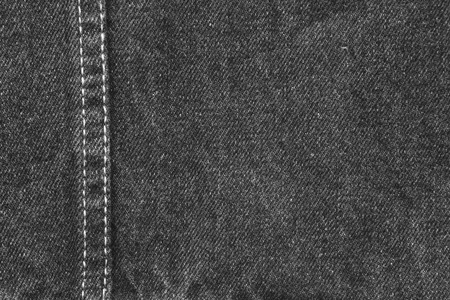 denim fabric: Closeup of black denim fabric