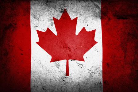 canadian flag: Grunge textured effect Canadian flag