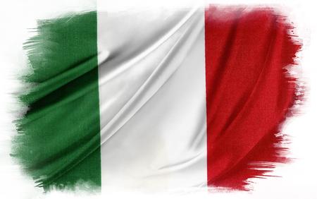 Italian flag on plain background