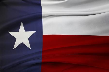 실크 텍사스 국기의 근접 촬영