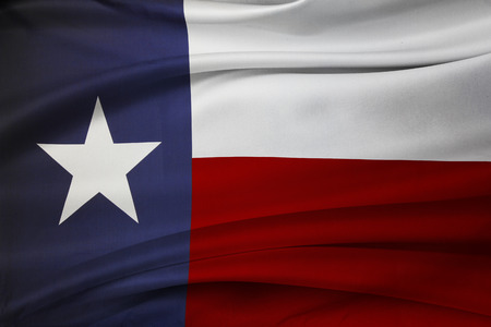 Closeup of silky Texas flag