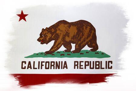 california flag: California flag on plain background Stock Photo