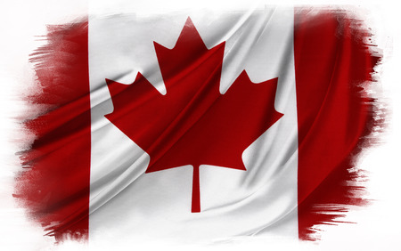 Canadian flag on plain background