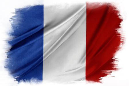 Französisch Flagge auf einfachen Hintergrund