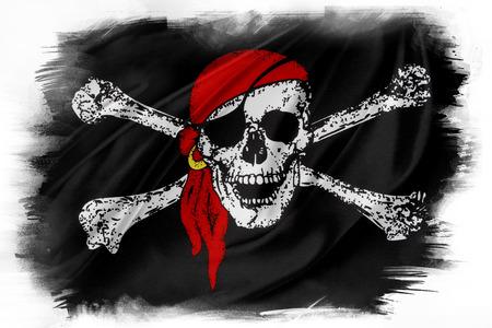 drapeau pirate: drapeau pirate sur fond uni