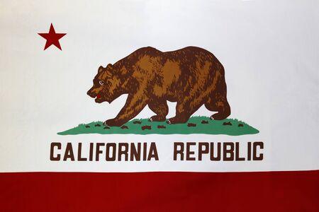 california flag: Closeup of the California flag Stock Photo