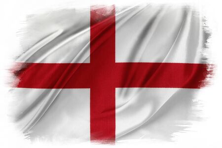 abstract paintings: St Georges Cross flag on plain background