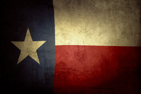 グランジ テキサス州旗のクローズ アップ