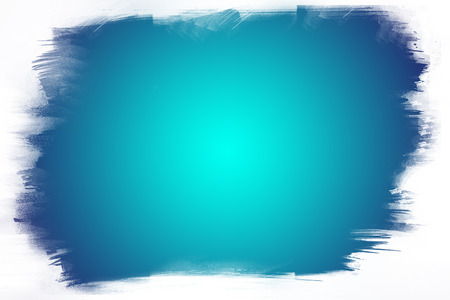 Blue paint on white background