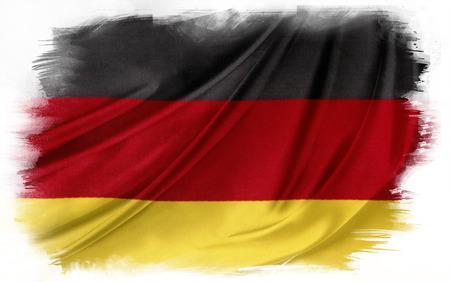 german flag: German flag on plain background