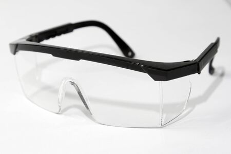 Closeup of pair of safety glasses Stock Photo