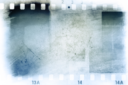 film  negative: Film negative frames on blue background
