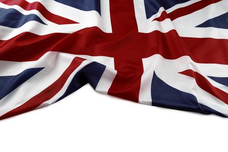 Union Jack flag on plain background Stock Photo