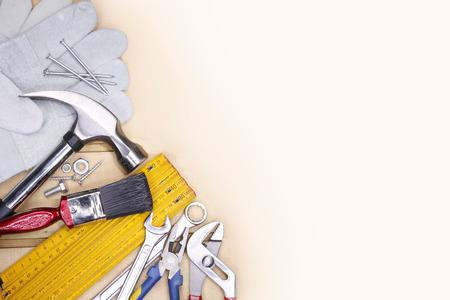 herramientas de trabajo: Diversas herramientas de trabajo. espacio de la copia