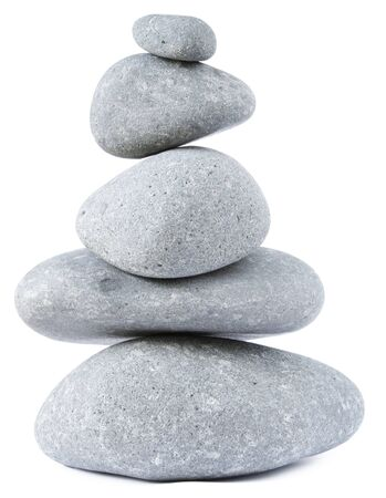 equilibrium: Stones stacked on top of each other Stock Photo