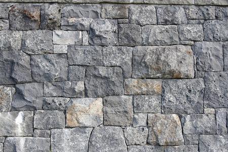 rock wall: Closeup of grey rock wall