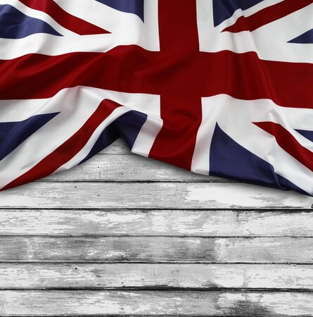 wooden boards: Union Jack flag on wooden boards