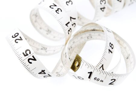 Closeup of coiled measuring tape